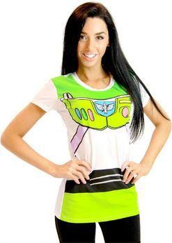 Toy Story Buzz Lightyear Juniors Astronaut Costume White T-shirt