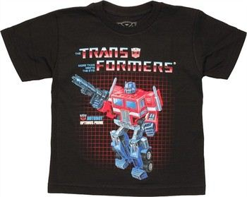 Transformers Optimus Prime G1 Box Art Juvenile T-Shirt