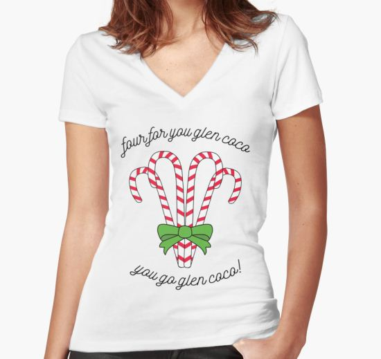 'Four for you!' Women's Fitted V-Neck T-Shirt by ultiodulcis T-Shirt