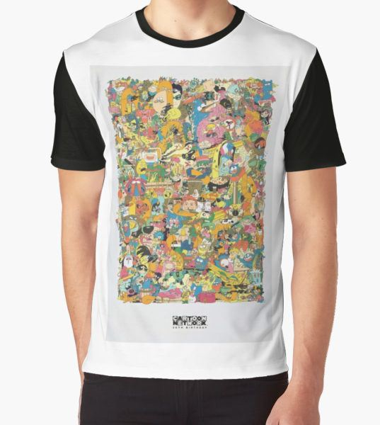 Cartoon Network Collage Graphic T-Shirt by mdoering16 T-Shirt