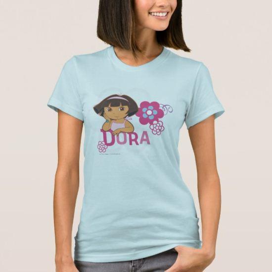 Dora The Explorer | Dora with Flowers T-Shirt