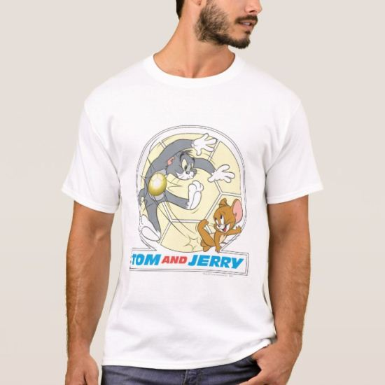 Tom and Jerry Soccer (Football) 8 T-Shirt