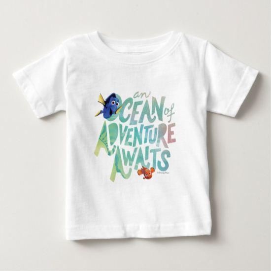 Dory & Nemo   An Ocean of Adventure Awaits Baby T-Shirt