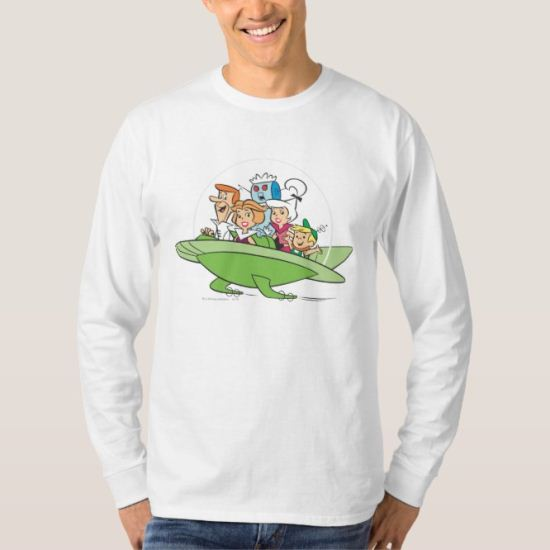 George Jetson Family In Astro Car 1 T-Shirt