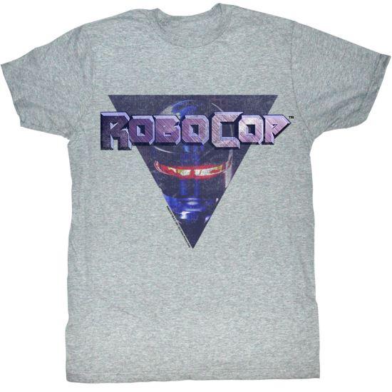 Robocop T-Shirt Movie RoboTri Adult Heather Grey Tee Shirt