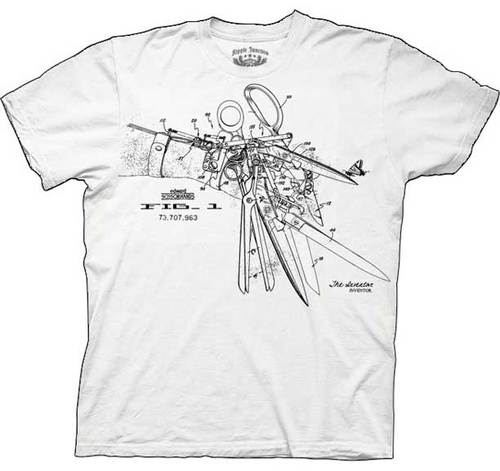 Edward Scissorhands Patent Hand White Adult T-shirt