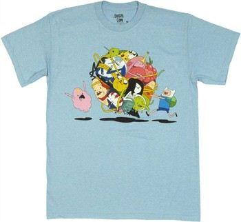 Adventure Time Group Ball Roll T-Shirt