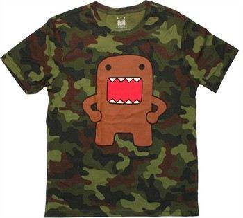 Domo-Kun Akimbo Stance Camouflage T-Shirt