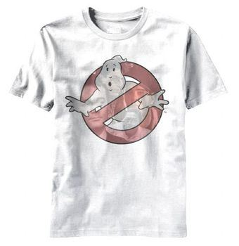 Ghostbusters Close Ups Adult White T-Shirt