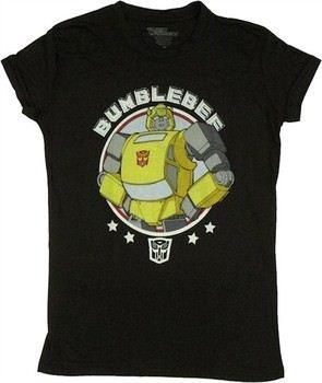 Transformers Bumblebee Circle Stars Baby Doll Tee