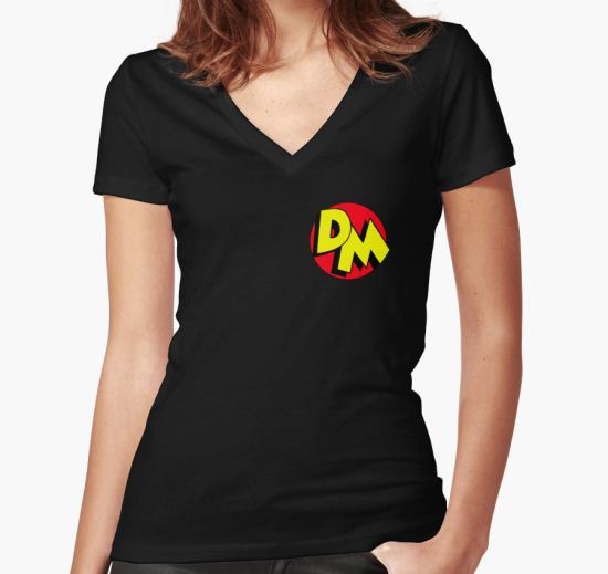 Danger Mouse Women's Fitted V-Neck T-Shirt by yohanesigit T-Shirt