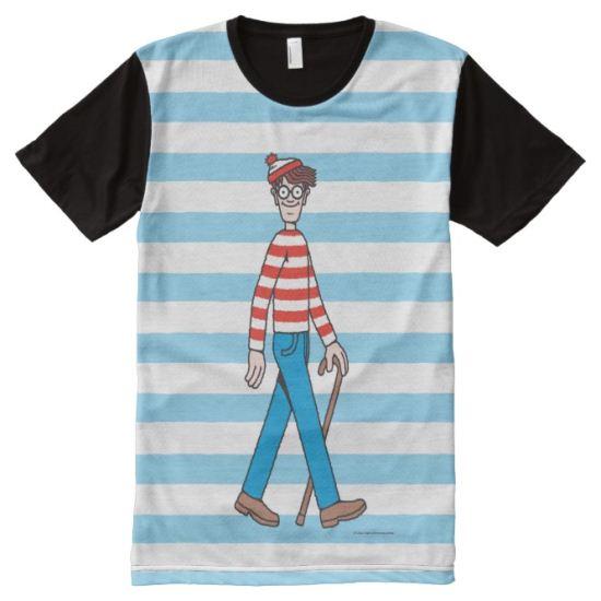 Where's Waldo Walking Stick All-Over Print Shirt