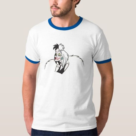 101 Dalmatians Cruella deville villain smiling T-Shirt