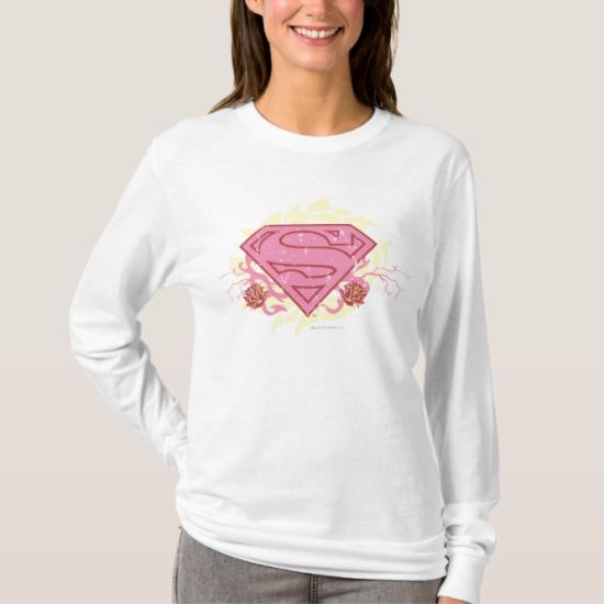 Supergirl Pink Flowers T-Shirt