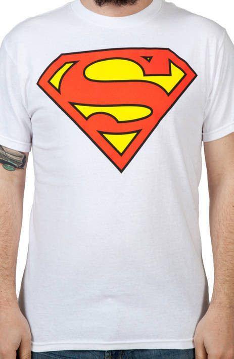 White Superman Logo Shirt