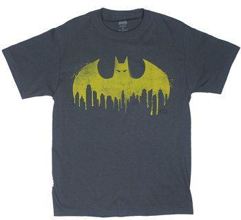 Batman City Spray Logo - DC Comics T-shirt
