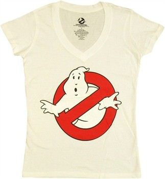 Ghostbusters Logo Symbol V Neck Baby Doll Tee