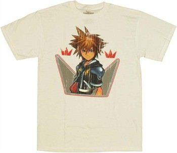 Kingdom Hearts Sora Stare Distressed T-Shirt