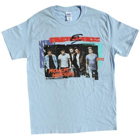 One Direction: Midnight Memories Blue Tour T-Shirt - Small