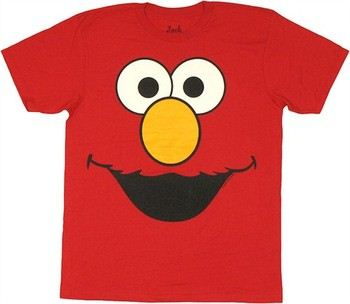 Sesame Street Elmo Big Face T-Shirt Sheer