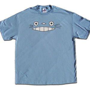 Cheshire Totoro Face - Blue (T-Shirt)
