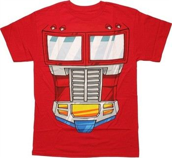 Transformers Optimus Prime Costume Suit T-Shirt
