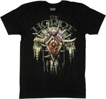Activision Blizzard World of Warcraft Horde 3D Crest T-Shirt Sheer