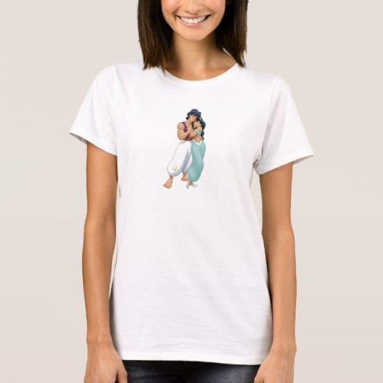 Aladdin's Aladdin and Jasmine Hugging T-Shirt