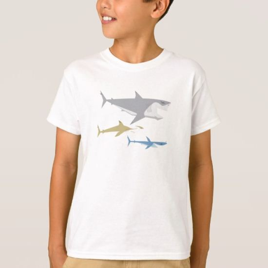 Finding Nemo Sharks Side View T-Shirt