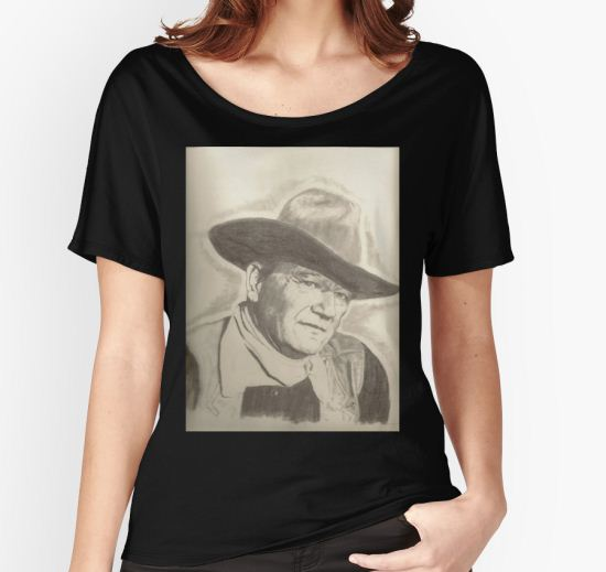 John Wayne Women's Relaxed Fit T-Shirt by artmgm T-Shirt