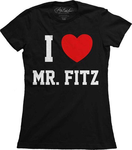 Pretty Little Liars I Heart Mr. Fitz Juniors Black T-shirt