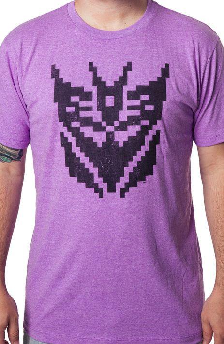 Pixel Decepticon Logo Shirt