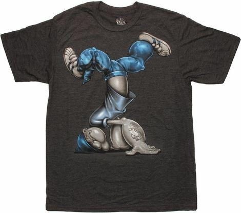 Popeye Head Spin Charcoal T Shirt Sheer