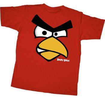 Angry Birds Red Face Youth T-shirt