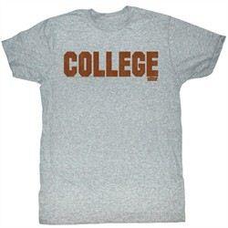 Animal House T-shirt Movie College Orange Adult Grey Tee Shirt