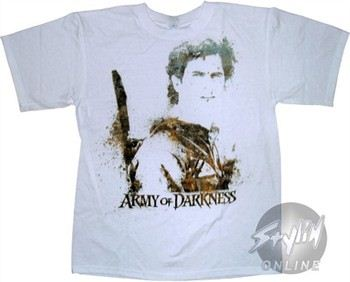 Army of Darkness Ash Stare Splatter T-Shirt