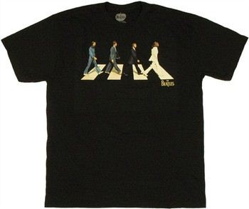 The Beatles Abbey Road Minimal Cover T-Shirt Sheer