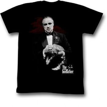 The Godfather Contemplation Adult Black T-Shirt