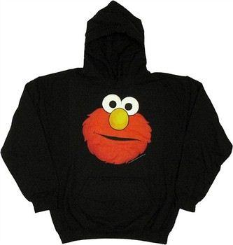 Sesame Street Elmo Head Full Pullover Hooded Sweatshirt
