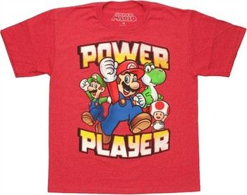 5110ef54 ... Nintendo Super Mario Power Player Youth T-Shirt. ""