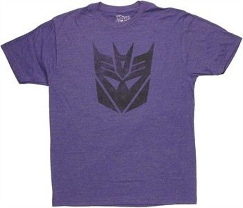 Transformers Decepticon Logo Stencil T-Shirt Sheer