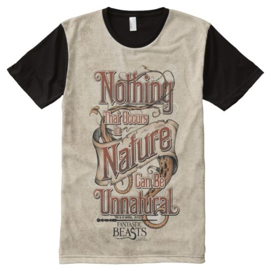 Nothing In Nature Can Be Unnatural - Red All-Over Print Shirt