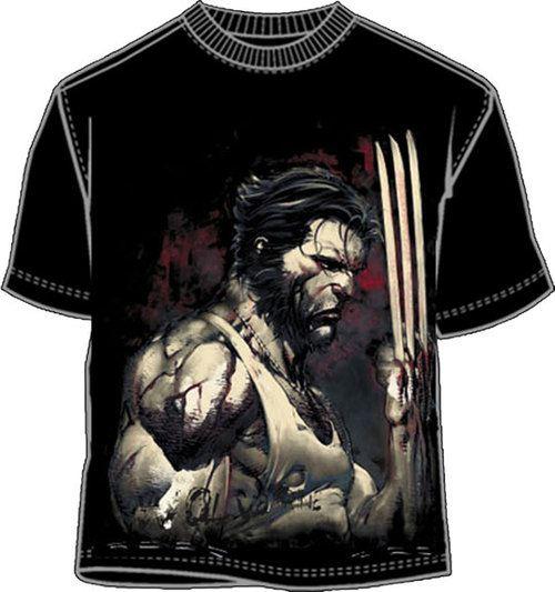 X-men Wolverine Blood and Steel Adult Black T-shirt