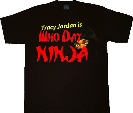 30 Rock Tracy Jordan Ninja Adult Black T-shirt