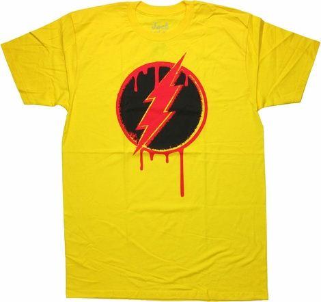 Flash Reverse Pop Art Logo T Shirt Sheer
