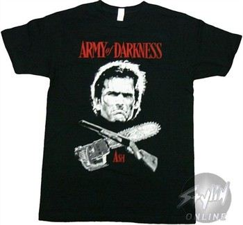 Army of Darkness Ash Cross T-Shirt Sheer