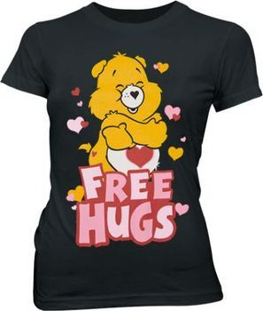 Care Bears Free Hugs Black Juniors T-shirt