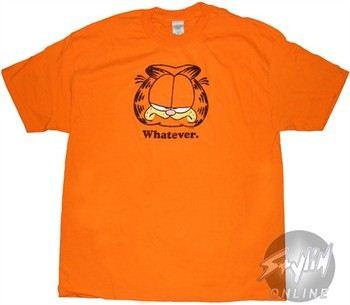 Garfield Whatever Orange T-Shirt