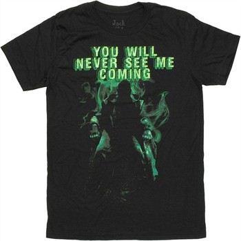 Marvel Comics Iron Man 3 Mandarin You Will Never See Me Coming Jack of All Trades T-Shirt Sheer