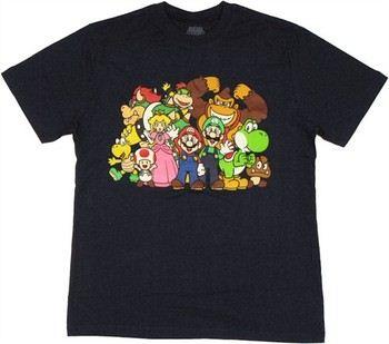 Nintendo Super Mario Group T-Shirt Sheer